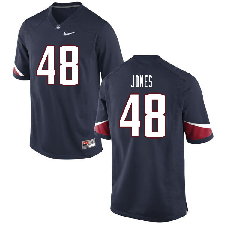Men #48 Kevon Jones Uconn Huskies College Football Jerseys Sale-Navy