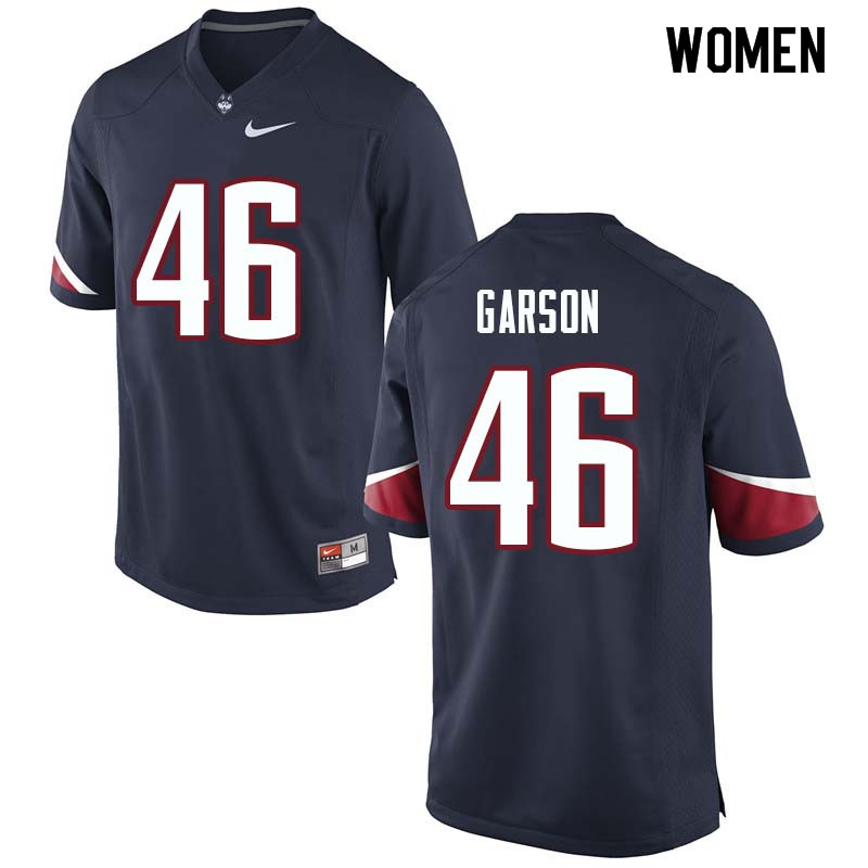 Women #46 AJ Garson Uconn Huskies College Football Jerseys Sale-Navy