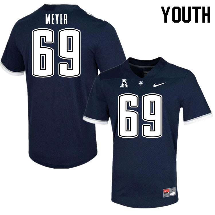 Youth #69 Will Meyer Uconn Huskies College Football Jerseys Sale-Navy